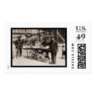Street Vendor Italian Feast 1908 Stamps