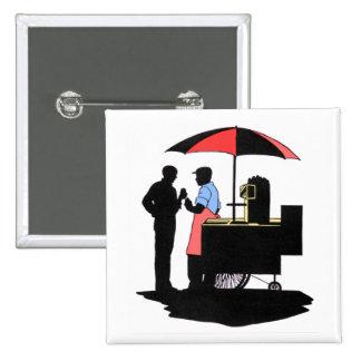Street Vendor Pinback Button