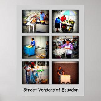 Street Vendors of Ecuador - Changeable Text Poster
