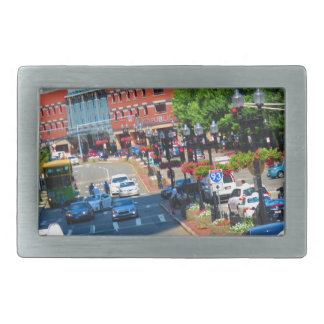 Street view Boston City USA America Bus Tour Belt Buckle