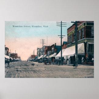Street View of Wenatchee Avenue Print