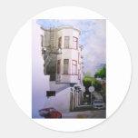 street view san francisco 1.jpg round sticker
