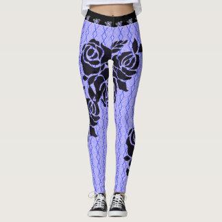 Street-Ware_Roses-Blue-Diamond(c)XS-XL_Leggings_ Leggings