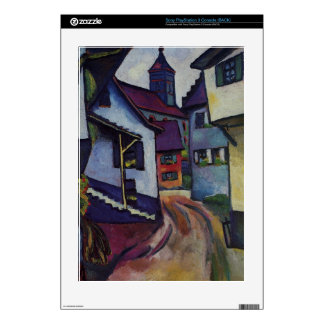 Street with a church in Kandern by August Macke Skins For PS3