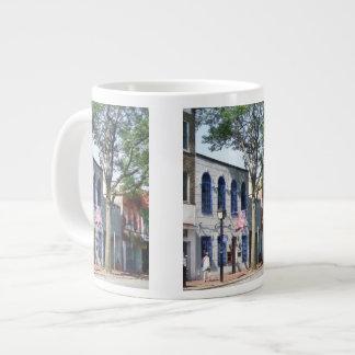 Street With American Flag Alexandria VA Giant Coffee Mug