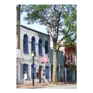 Street With American Flag Alexandria VA Personalized Invite
