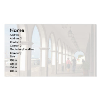 Street with arches business card