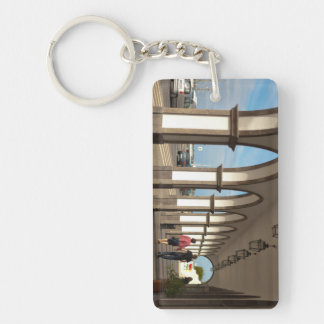 Street with arches Double-Sided rectangular acrylic keychain
