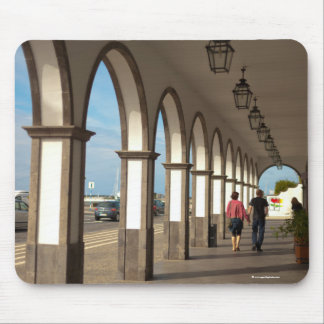 Street with arches mouse pad