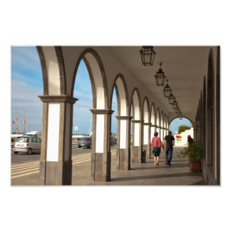 Street with arches art photo