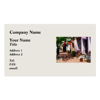 Street With Art Gallery and Tobacconist Alexandria Double-Sided Standard Business Cards (Pack Of 100)