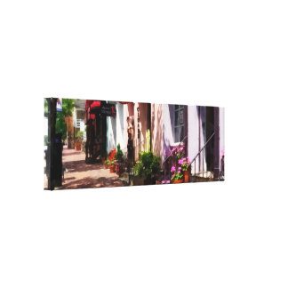 Street With Art Gallery and Tobacconist Alexandria Canvas Print