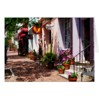 Street With Art Gallery and Tobacconist Alexandria Greeting Card