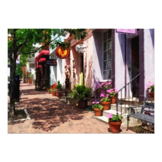 Street With Art Gallery and Tobacconist Alexandria Personalized Announcements