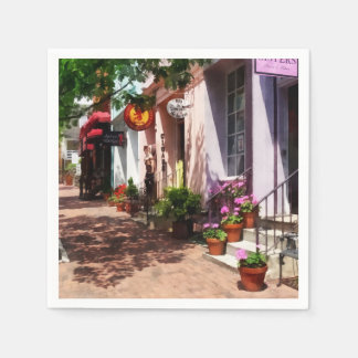 Street With Art Gallery and Tobacconist Alexandria Paper Napkin