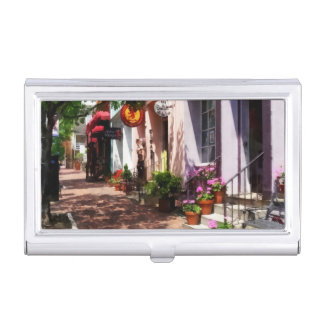 Street With Art Gallery and Tobacconist Alexandria Case For Business Cards