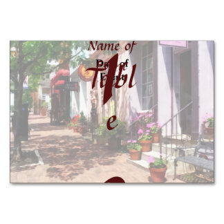 Street With Art Gallery and Tobacconist Alexandria Table Cards