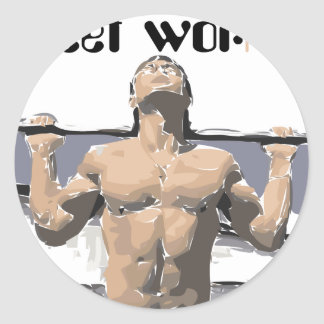 Street workout and Fitness for you. Classic Round Sticker