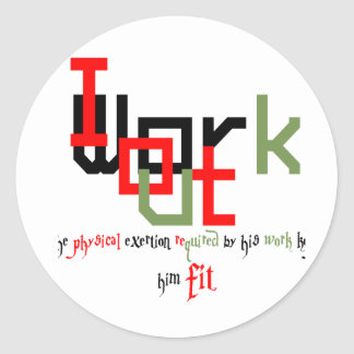 Street workout or Fitness. Classic Round Sticker