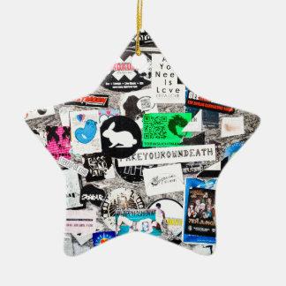 Streetart bordador graderías adorno de cerámica en forma de estrella