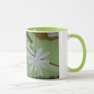 Streetart flower graffiti cup