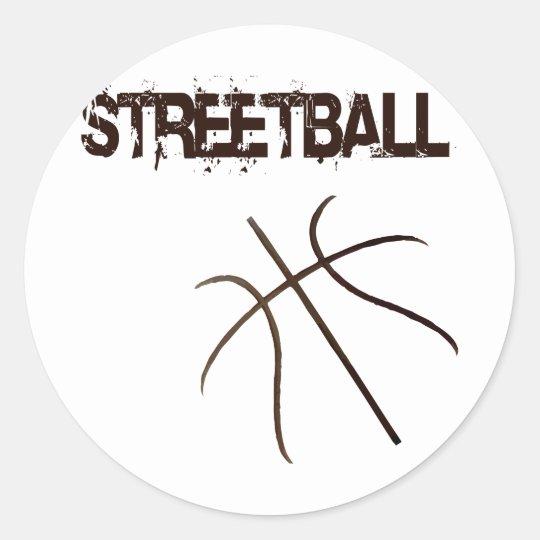 Streetball Classic Round Sticker
