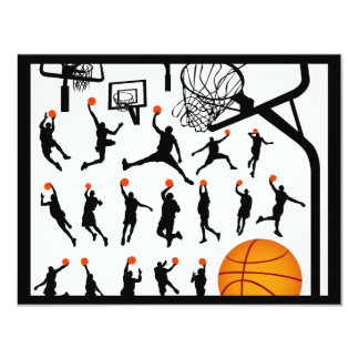 streetball 4.25x5.5 paper invitation card
