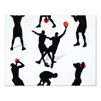streetball-players 4.25x5.5 paper invitation card