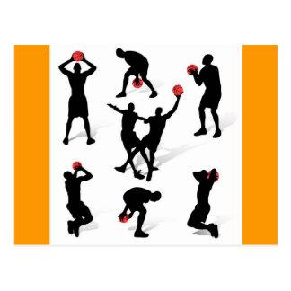 streetball-players postcard