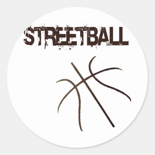 Streetball Round Stickers