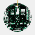 Streetcar In New Orleans Double-Sided Ceramic Round Christmas Ornament