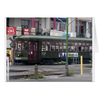 Streetcar runs along the Mississippi Card