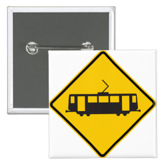 Streetcar Warning Highway Sign Button