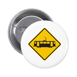 Streetcar Warning Highway Sign Buttons