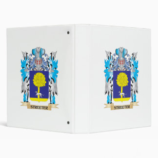 Streeter Coat of Arms - Family Crest 3 Ring Binders