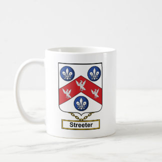 Streeter Family Crest Classic White Coffee Mug