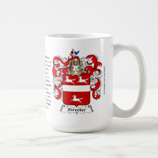 Streeter, the Origin, the Meaning and the Crest Classic White Coffee Mug