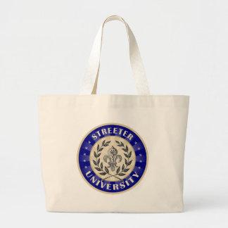 Streeter University Navy Tote Bags