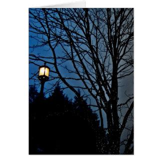 streetlamp at twilight card