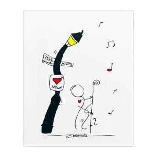 Streetlamp Serenade Acrylic Print