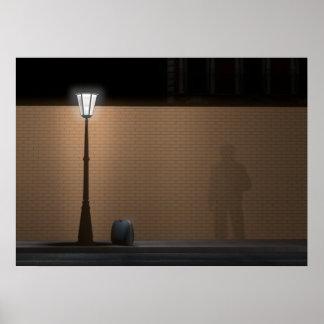 Streetlight and Bag Poster
