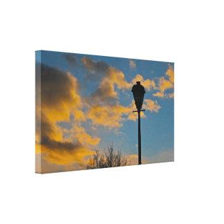 Streetlight in the Sunset Canvas Print