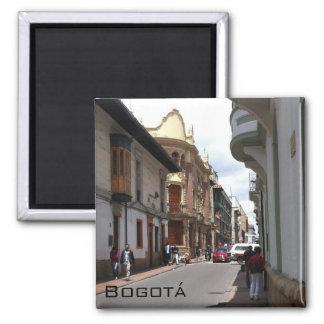 Streets of Bogota 2 Inch Square Magnet