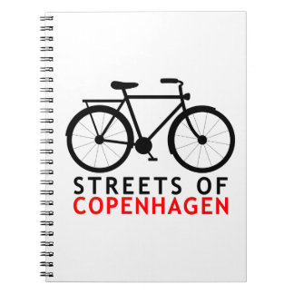 Streets of Copenhagen Spiral Notebook