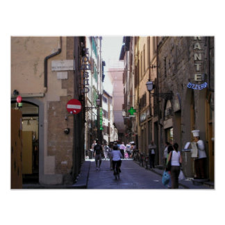 Streets of Florence Poster