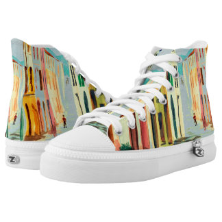 Streets of Italy Watercolour High Top Shoes