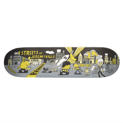 Streets of Jeremyville Custom Skateboard