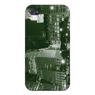 Streets of Manhattan at Night, New York City iPhone 4 Case