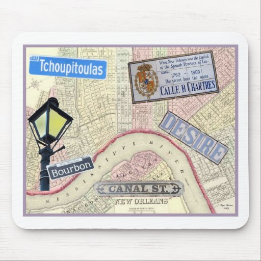 Streets of New Orleans Mouse Pad