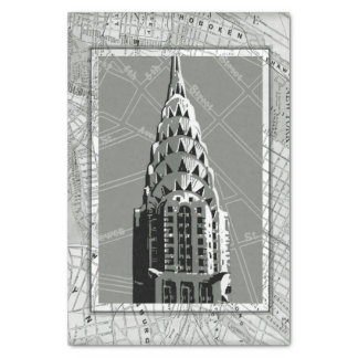 """Streets of New York with Empire State Building 10"""" X 15"""" Tissue Paper"""